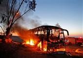 فیلم حمله مقاومت فلسطین به یک دستگاه اتوبوس حامل نظامیان اسرائیلی