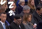 چرت پادشاه مراکش در حین سخنرانی و تعجب ترامپ + فیلم