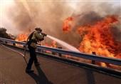 دود آتش کالیفرنیا در چشم مردم آمریکا + تصاویر