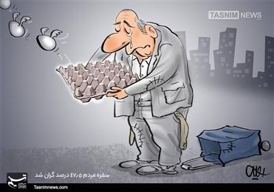 کاریکاتور/ سفره مردم 47.5 درصد گران شد!!!
