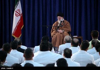 دیدار مدالآوران ایران در بازیهای پاراآسیایی جاکارتا با رهبر معظم انقلاب