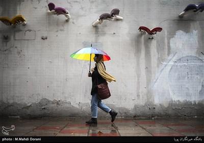 باران پاییزی تهران