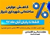 مهلت استفاده از 22 درصد تخفیف عوارض شهرداری شیراز پایان آبان ماه امسال اعلام شد