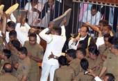 درگیری در پارلمان سریلانکا+فیلم