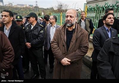 مراسم تشییع سیدتقی نوربخش و عبدالرحمان تاج الدین