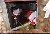 آبگرفتگی منازل مسکونی در کهگیلویه و بویراحمد به روایت تصویر
