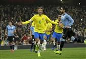 فوتبال جهان| برتری برزیل بر اروگوئه با پنالتی نیمار