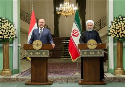 عراقی صدرایک اعلیٰ سطحی وفد کے ہمراہ تہران پہنچ گئے