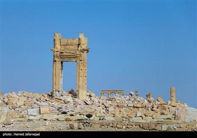 """معبد تاریخی """"بل"""" در شهر پالمیرا سوریه پس از انفجار حمله داعش در سال2015"""