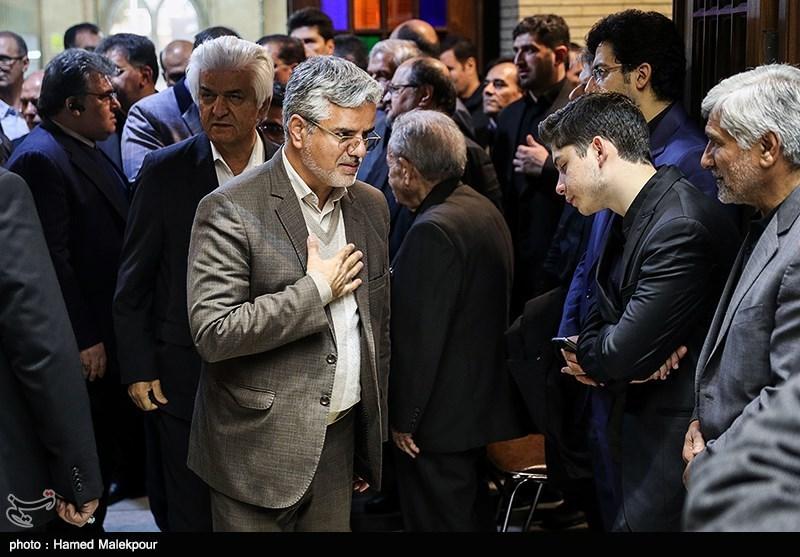 محمود صادقی نماینده مجلس شورای اسلامی در مراسم ختم مدیرعامل و معاون سازمان تأمین اجتماعی