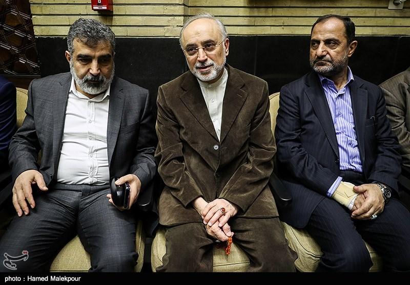 علیاکبر صالحی رئیس سازمان انرژی اتمی در مراسم ختم مدیرعامل و معاون سازمان تأمین اجتماعی