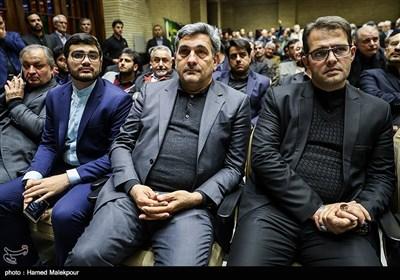 پیروز حناچی شهردار منتخب تهران در مراسم ختم مدیرعامل و معاون سازمان تأمین اجتماعی
