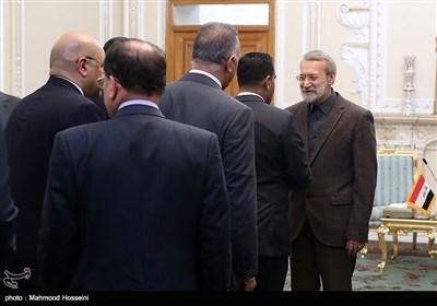 دیدار برهم صالح رئیس جمهور عراق با علی لاریجانی رئیس مجلس شورای اسلامی