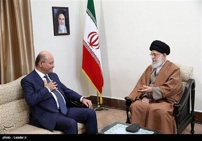 عراقی صدر برہم صالح کی رہبر انقلاب اسلامی ایران سے ملاقات