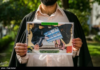 تجمع اساتید و طلاب مدرسه مروی در حمایت از مردم یمن