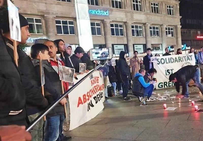 گردهمایی اعتراضی در آلمان علیه اخراج اجباری پناهجویان افغان