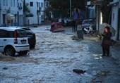 سیلاب و خسارات سنگین در بودروم ترکیه + عکس