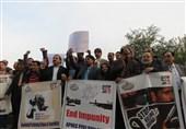 گزارش تسنیم از اعتراض خبرنگاران پاکستانی به جنایتهای رژیم صهیونیستی +تصاویر