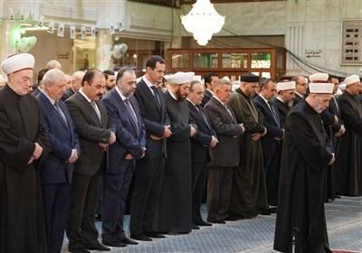 حضور بشار اسد در مراسم سالگرد میلاد نبوی+تصاویر