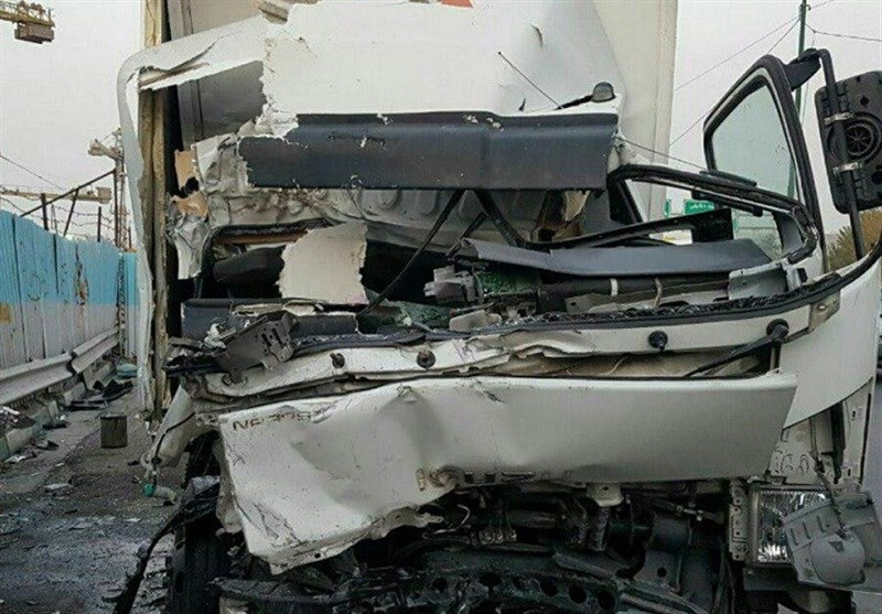 تصادف مرگبار دو کامیون در بزرگراه شهید همت + عکس