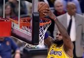 لیگ NBA| پیروزی لیکرز با امتیازهای جیمز/ شکست سنگین کلیولند در بوستون