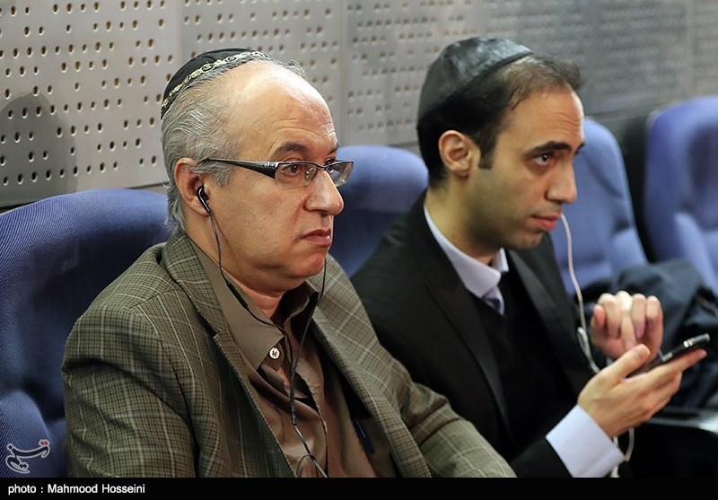 همایون سامیح رئیس انجمن کلیمیان تهران در همایش حمایت از مردم مظلوم یمن