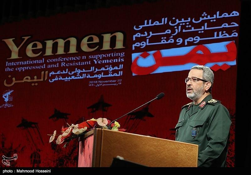 سخنرانی سردار غیبپرور رئیس سازمان بسیج مستضعفین در همایش حمایت از مردم مظلوم یمن