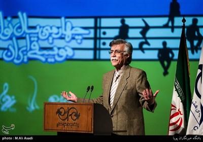 سخنرانی جاوید مجلسی استاد موسیقی در مراسم چهارمین سال نوای موسیقی ایران