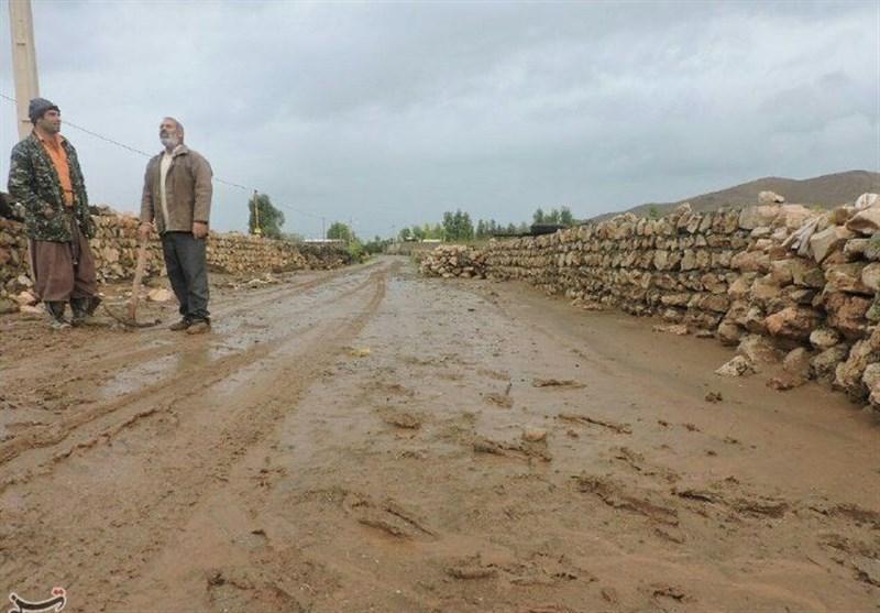 «سیلاب» آب 50 روستای پلدختر را قطع کرد؛ قطع راه ارتباطی 30 روستا