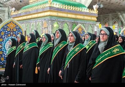 حضور بانوان بسیجی در همایش اقتدار فرماندهان بسیج سپاه محمد رسول الله تهران بزرگ