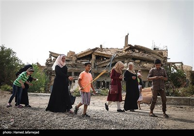 مردم و آوارگان شهر دیرالزور سوریه