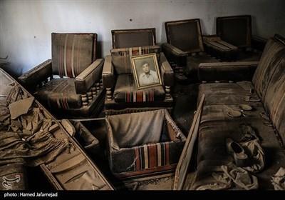خانه ها و اتاق های ویران شده توسط ترویست های داعش در استان دیرالزور سوریه