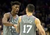 پلیآف لیگ NBA سیکسرز و ناگتس، حریفان خود را شکست دادند