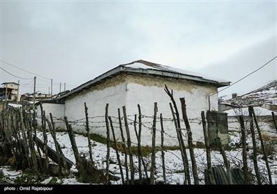 بارش برف پاییزی در جواهردشت سیاهکلرود گیلان
