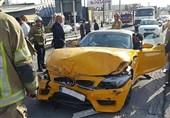 تصادف شدید BMW با پژو پارس+ تصاویر