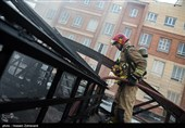 آتشسوزی گسترده در ساختمان 25 طبقه