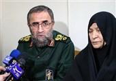 اصفهان| سردار باقرزاده بازگشت پیکر مطهر شهید حقشناس را به مادرش ابلاغ کرد