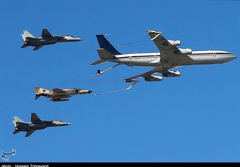 رژه تمرینی جنگنده های ارتش برفراز آسمان تهران