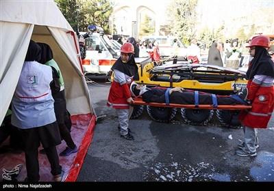 مانور سراسری مقابله با زلزله در مشهد