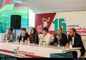 کنفرانس خبری مهمانان بخش بینالملل جشنواره فیلم مقاومت
