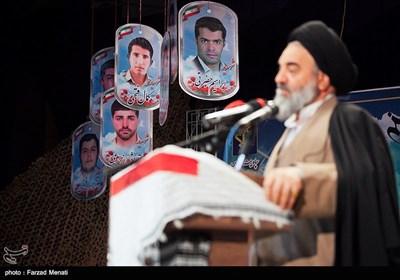 سخنرانی آیت الله سیدمحمد حسینیشاهرودی نماینده ولی فقیه در استان کردستان در یادواره شهدای حادثه تروریستی مریوان