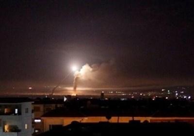 مقابله پدافندی ارتش سوریه با حملات هوایی اسرائیل به حمص و دمشق