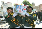 خوزستان|سیل خروشان مردم در تشییع پیکر شهید مدافع وطن در دزفول +تصاویر