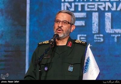 سخنرانی سردار غیب پرور در اختتامیه پانزدهمین جشنواره بین المللی فیلم مقاومت