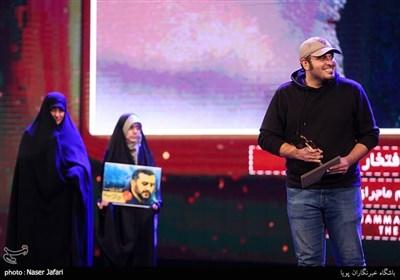 تقدیر از محمدحسین مهدویان در اختتامیه پانزدهمین جشنواره بین المللی فیلم مقاومت