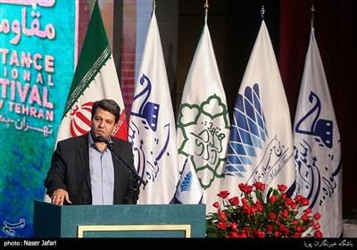 محمد خزاعی در اختتامیه پانزدهمین جشنواره بین المللی فیلم مقاومت
