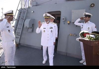 مراسم الحاق ناوشکن «سهند» به نیروی دریایی ارتش