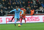 سوپر لیگ ترکیه| پیروزی ترابزوناسپور با گلزنی وحید امیری