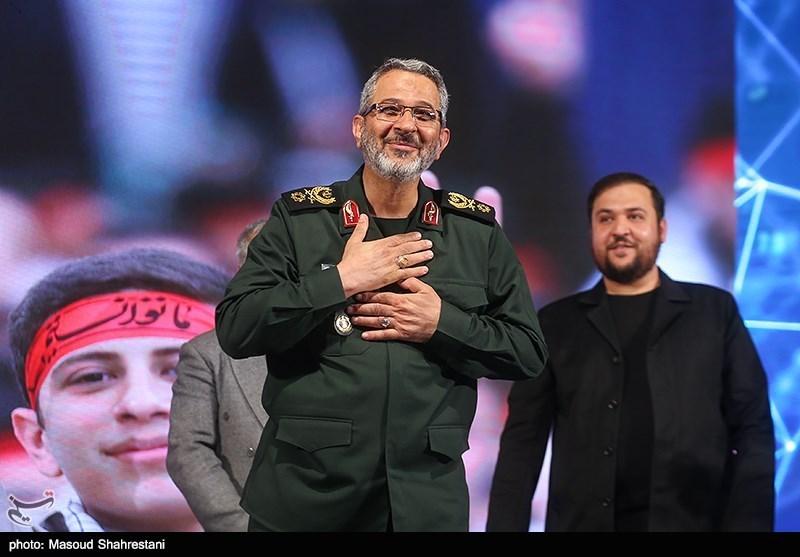 سردار غلامحسین غیب پرور فرمانده بسیج در اولین گردهمایی فعالان فضای مجازی بسیج
