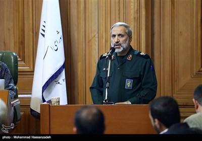سخنرانی سردار محمدرضا یزدی فرمانده سپاه محمد رسولالله در جلسه علنی شورای شهر تهران